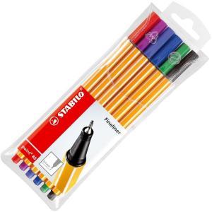 طقم فاين لاينر ٦ قلم Stabilo Point 88