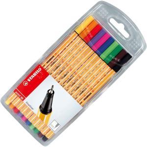 طقم فاين لاينر ١٠ قلم STABILO point 88