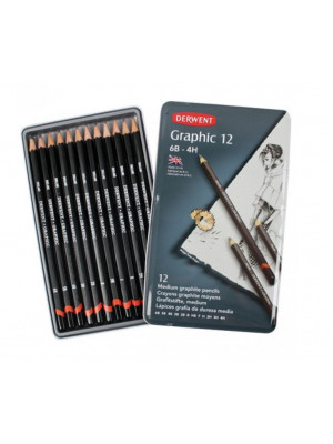 طقم ١٢ قلم رصاص درجات Derwent Graphic Pencil 12