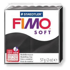 قطعة صلصال حرارى فيمو  Soft  black-9