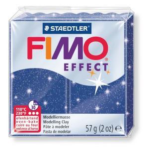 قطعة صلصال حرارى فيمو Effect Glitter blue-302