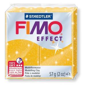 قطعة صلصال حرارى فيمو Effect Glitter gold-112