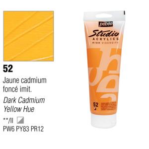 انبوابة اكريلك 100مللي بيبيو - 52 Dark Cadmium Yellow Hue