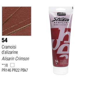 انبوابة اكريلك 100مللي بيبيو - 54 Alizarin Crimson