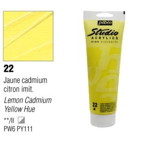 انبوابة اكريلك 100مللي بيبيو -22 Lemon Cadmium Yellow Hue