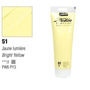 انبوابة اكريلك 100مللي بيبيو -51 Bright Yellow