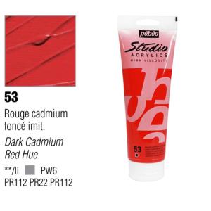 انبوابة اكريلك 100مللي بيبيو -53 Dark Cadmium Red Hue