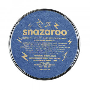 برطمان الوان وجه ميتالك SNAZAROO ELECTRIC BLUE 18ML