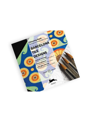 كتاب تلوين PEPIN Colouring Cards Barcelona Tile Designs