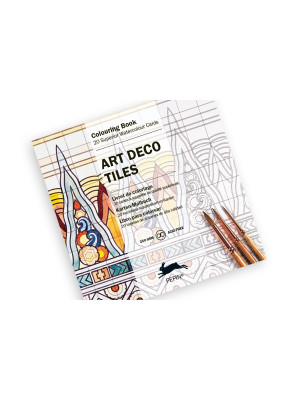كتاب تلوين PEPIN Colouring Cards Art Deco Tiles