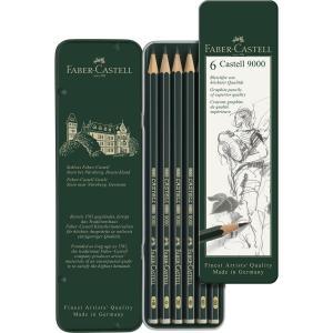 طقم 6 قلم رصاص درجات جرافيت CASTELL 9000