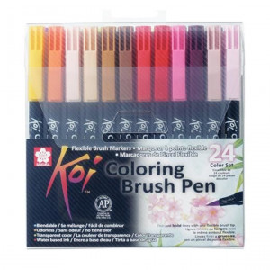 طقم ٢٤ لون سن فرشه koi Brush