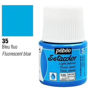 برطمان سيتاكولور 45ملليLight Fabrics 45ml 35 Fluorescent Blue