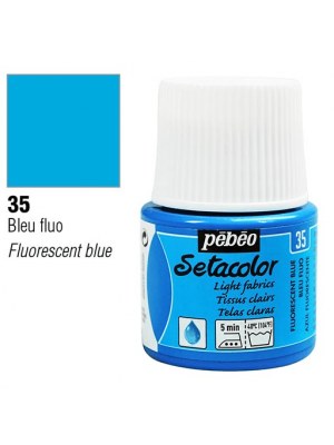 برطمان سيتاكولور ٤٥ ملليLight Fabrics 45ml 35 Fluorescent Blue