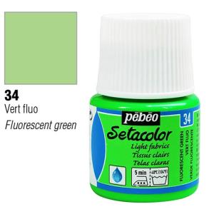 برطمان سيتاكولور 45ملليLight Fabrics 45ml 34 Fluorescent Green