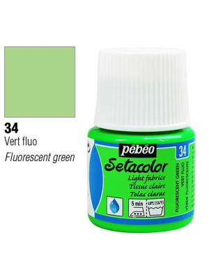 برطمان سيتاكولور ٤٥ ملليLight Fabrics 45ml 34 Fluorescent Green