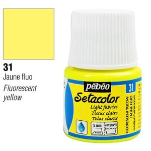 برطمان سيتاكولور 45ملليLight Fabrics 45ml 31 Fluorescent Yellow