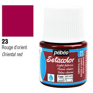 برطمان سيتاكولور 45ملليLight Fabrics 45ml 23 Oriental Red