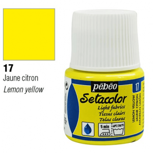برطمان سيتاكولور 45ملليLight Fabrics 45ml 17 Lemon Yellow