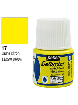 برطمان سيتاكولور ٤٥ ملليLight Fabrics 45ml 17 Lemon Yellow