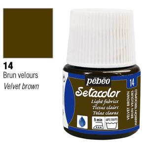 برطمان سيتاكولور 45ملليLight Fabrics 45ml 14 Velvet Brown