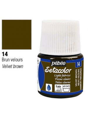 برطمان سيتاكولور ٤٥ ملليLight Fabrics 45ml 14 Velvet Brown