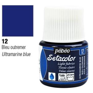 برطمان سيتاكولور 45ملليLight Fabrics 45ml 12 Ultramarine Blue