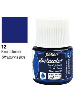 برطمان سيتاكولور ٤٥ ملليLight Fabrics 45ml 12 Ultramarine Blue