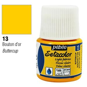برطمان سيتاكولور 45ملليLight Fabrics 45ml 13 Butter Cup