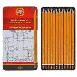 طقم 12 قلم درجات KOH-I-NOOR  Technic Hb-10h
