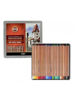 طقم 24 لون الوان سوفت باستيل KOH-I-NOOR: GIOCONDA SOFT ARTIST PASTEL PENCILS
