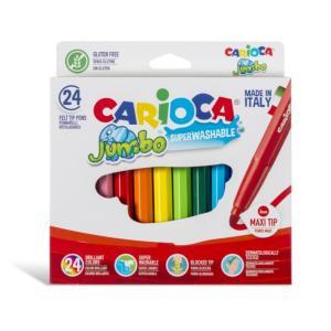 طقم 24 لون فلوماستر Carioca Jumbo