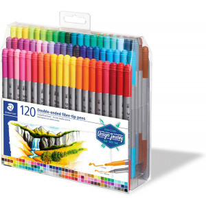 طقم 120 قلم فلوماستر 2 سن ستيدلر