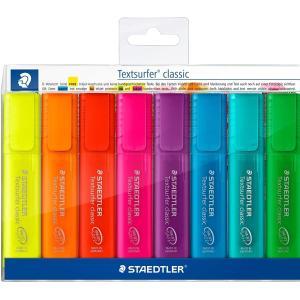 طقم 8 قلم فسفوري هايلايتر ستيدلر