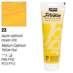 انبوابة اكريلك 250 مللي بيبيو23 Cadmium Yellow Medium Hue