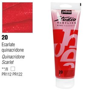 انبوابة اكريلك 250 مللي بيبيو  20 Quinacridone Scarlet
