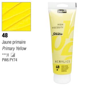 انبوابة اكريلك 250 مللي بيبيو48 Opaque Primary Yellow