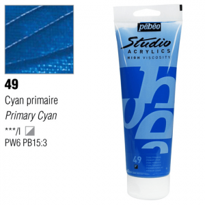 انبوابة اكريلك 250 مللي بيبيو49 Opaque Primary Cyan