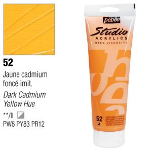 انبوابة اكريلك 250 مللي بيبيو  52 Dark Cadmium Yellow Hue