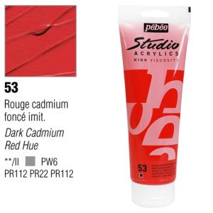 انبوابة اكريلك 250 مللي بيبيو 53 Dark Cadmium Red Hue
