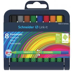 طقم 8 قلم ميني سن فلوماستر 1.0  Schneider Link-It