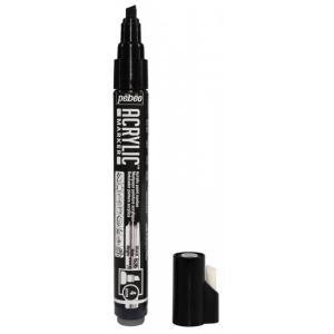 قلم اكريلك سن مشطوف  بيبيو Black 4MM-636