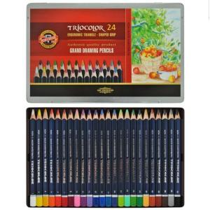 طقم 24 لون Koh-i-noor Triocolor
