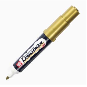 قلم ماركر ساكورا 2 سن ثابت لون Gold ميتالك-51