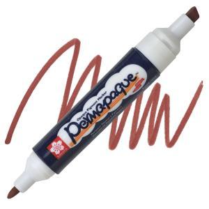 قلم ماركر ساكورا 2 سن ثابت لون Brown -12