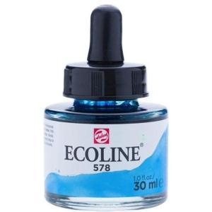 برطمان الوان مائيه إيكولين 30 مللي SKY BLUE CYAN 578