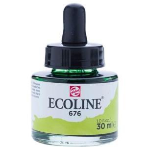 برطمان الوان مائيه إيكولين 30 مللي GRASS GREEN 676