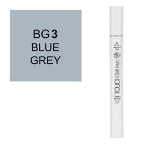 قلم ماركر تاتش برأس لين مزدوج  Blue Grey-BG3