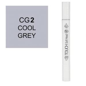 قلم ماركر تاتش برأس لين مزدوج Cool Grey-CG2