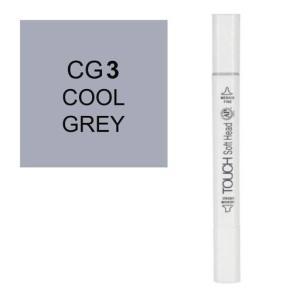 قلم ماركر تاتش برأس لين مزدوج Cool Grey-CG3